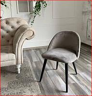 Мягкое кухонное кресло на деревянных ножках мягкий стул в гостинную велюровий обеденный стул на кухню