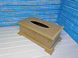 Салфетница Шкатулка 26х14,5х9 см МДФ заготовка для декора, фото 5