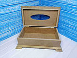 Салфетница Шкатулка 26х14,5х9 см МДФ заготовка для декора, фото 2