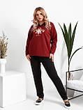 Женский весенний спортивный костюм кофта батник и штаны трикотаж размеры: 48. 50. 52. 54. 56, фото 4