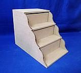 Комод Сходинка на 3 ящики 17х25,5х20 см МДФ заготівля для декору, фото 4
