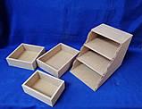 Комод Сходинка на 3 ящики 17х25,5х20 см МДФ заготівля для декору, фото 2
