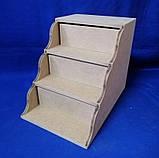 Комод Сходинка на 3 ящики 17х25,5х20 см МДФ заготівля для декору, фото 3