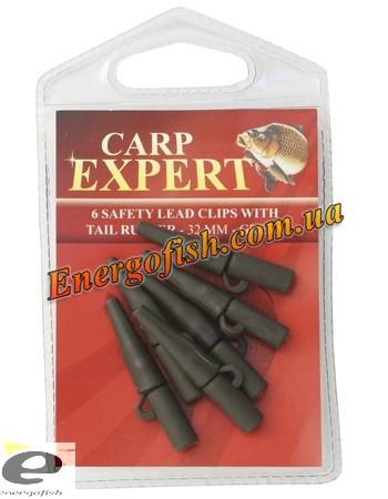 Кліпса для вантажу Carp Expert 32 мм зелена 6 шт
