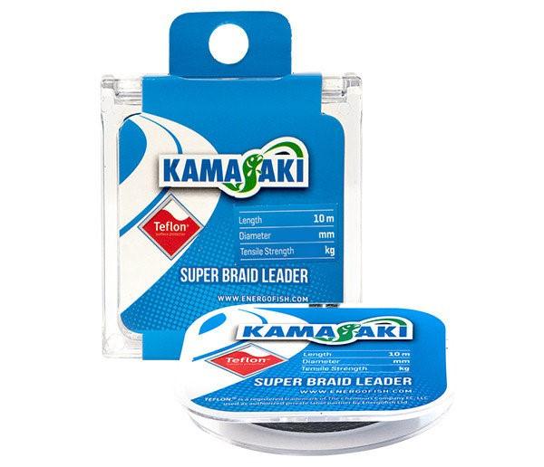 Поводковый материал 10m 0.14mm 10.8kg Energofish Kamasaki Super Braid Leader Teflon Coated Grey (340
