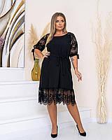Новинка! Ошатна, гарна сукня, батал, арт А519, колір чорний