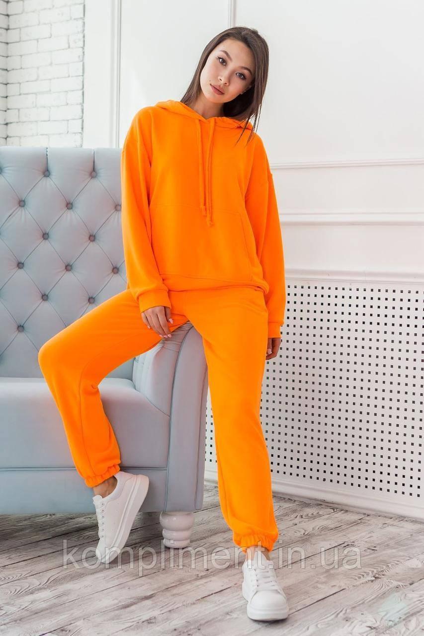 """Молодежный женский спортивный неоновый костюм """"Микаэлла"""", оранжевый"""