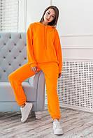 """Молодежный женский спортивный неоновый костюм """"Микаэлла"""", оранжевый, фото 1"""