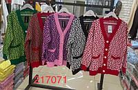 Кардиган в'язання на гудзиках ВІЗЕРУНОК для дівчат оверсайз розмір 44-48,мікс кольорів