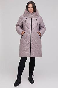 Женское зимнее плащевое пальто больших размеров 48-68