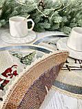 """Кругла серветка під тарілку """"Різдво в Карпатах"""", O30, гобелен, від 4 штук, фото 5"""