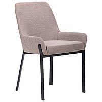 Крісло AMF Charlotte чорний/меланж латте оббивка тканина