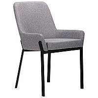 Кресло AMF Charlotte черный/серый обивка ткань