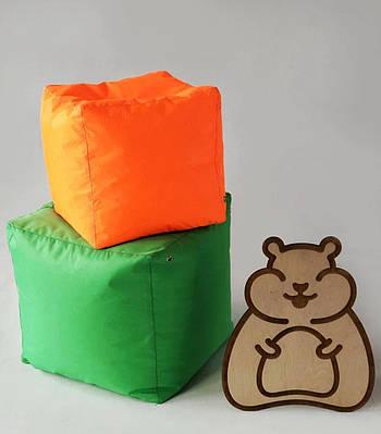 """М'яке крісло """"Кубик"""" безкаркасний пуфик для сидіння вдома ,на вулиці, в кафе 45х45 см тканини оксфорд"""