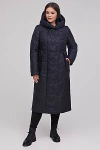 Женское зимнее плащевое пальто больших размеров 48-64