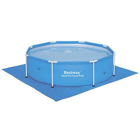 УЦІНКА! Підстилка Квадратна Bestway 58000 для басейнів, 274х274см