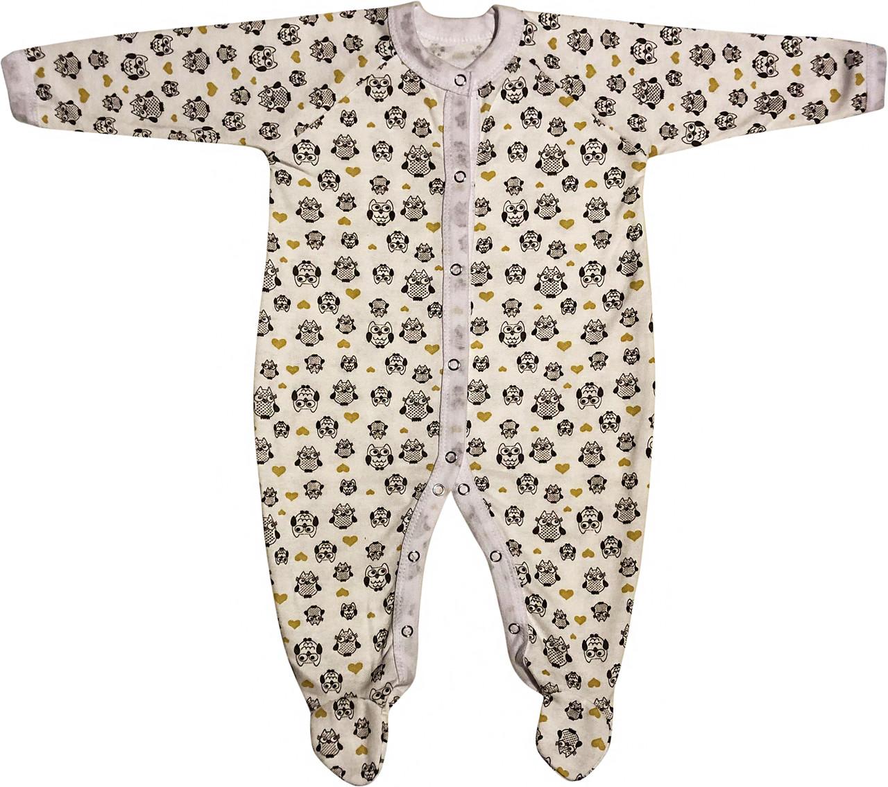 Теплий чоловічок з начосом для малюків ріст 86 1-1,5 року на хлопчика дівчинку сліп бавовна футер молочний