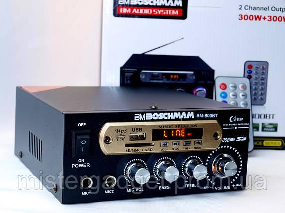 Усилитель низкой частоты BM-800BT BLUETOOTH, фото 2
