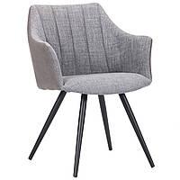 Кресло AMF Florida черный/меланж грей/нубук грей каркас черный обивка серый меланж