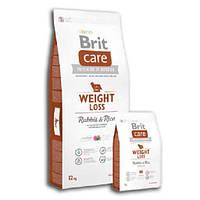 Корм для собак Brit Care Weight Loss Rabbit & Rice 12 кг для собак с избыточным весом, с кроликом