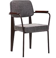 Кресло AMF Lennon кофе / бетон искусственный нубук