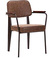 Кресло AMF Lennon кофе / лунго искусственный нубук