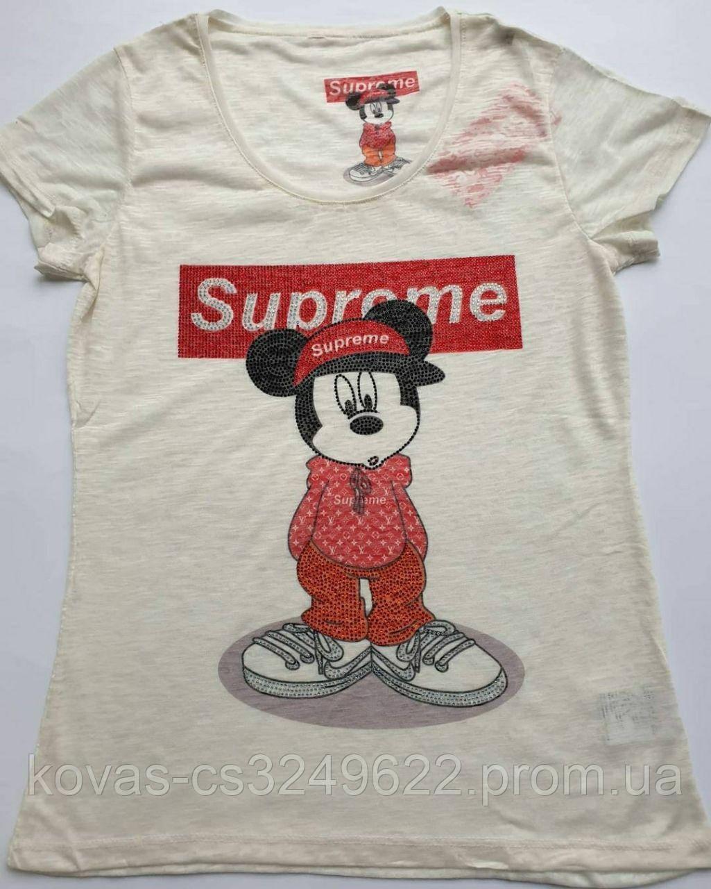 Женская футболка  Supreme
