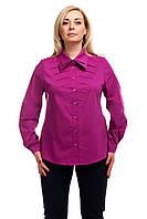 Женская рубашка большого размера  хлопок Фуксия
