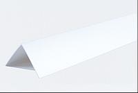 Декоративні кути ПВХ білі LinePlast 20х10