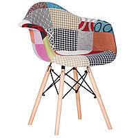 Крісло AMF Salex New FB Wood Patchwork каркас дерево оббивка тканина