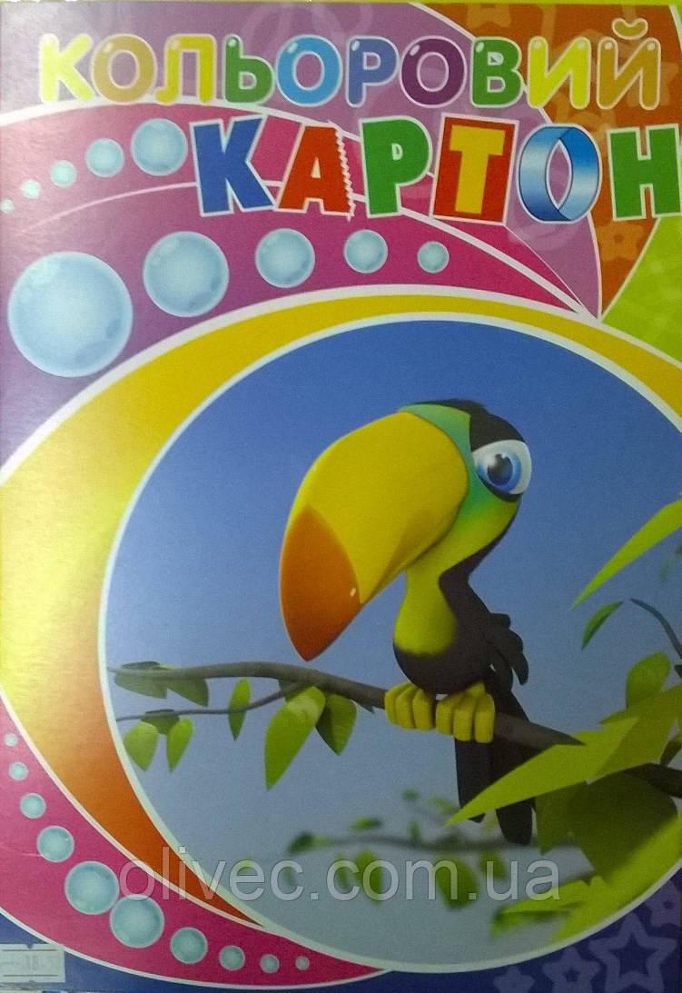 """Цветной картон ТОВ """"ЛунаПак"""" 9 листов"""