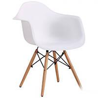 Кресло AMF Salex PL Wood каркас дерево сиденье пластик белый