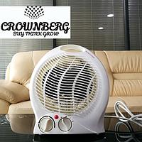 Тепловентилятор Crownberg CB-7746, обогреватель дуйка электрическая, дуйчик в комнату, спиральный обогреватель