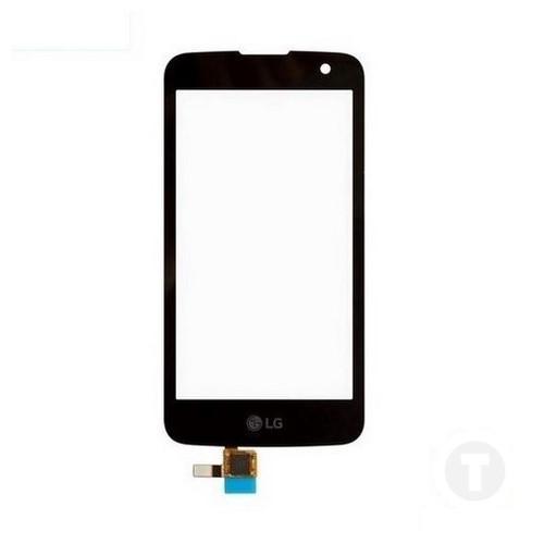Тачскрін (Сенсор) для LG K130E K4/ VS425 без датчика наближення чорний