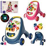 Дитячі ходунки-каталка 2 в 1 ігровий центр Bambi 91157, фото 2
