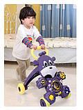 Дитячі ходунки-каталка 2в1 35413 Жирафик музичні з ігровою панеллю фіолетові, фото 5