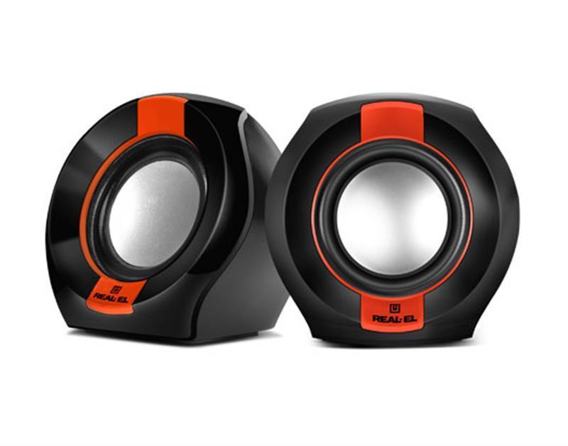 Акустична система 2.0 REAL-EL S-50 Black/Red