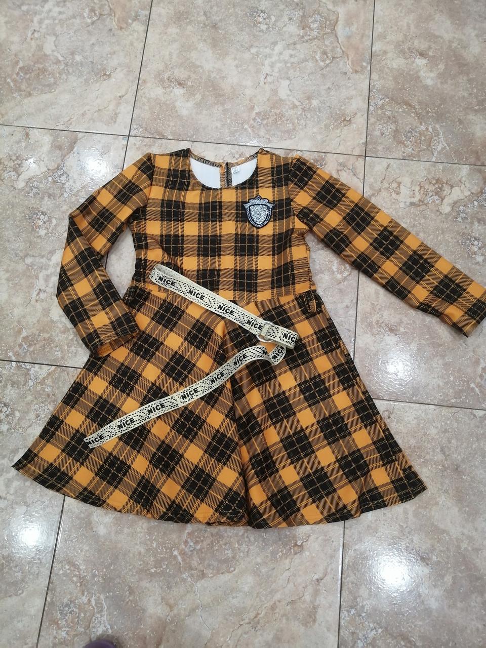 Платье в клетку для девочки подростка