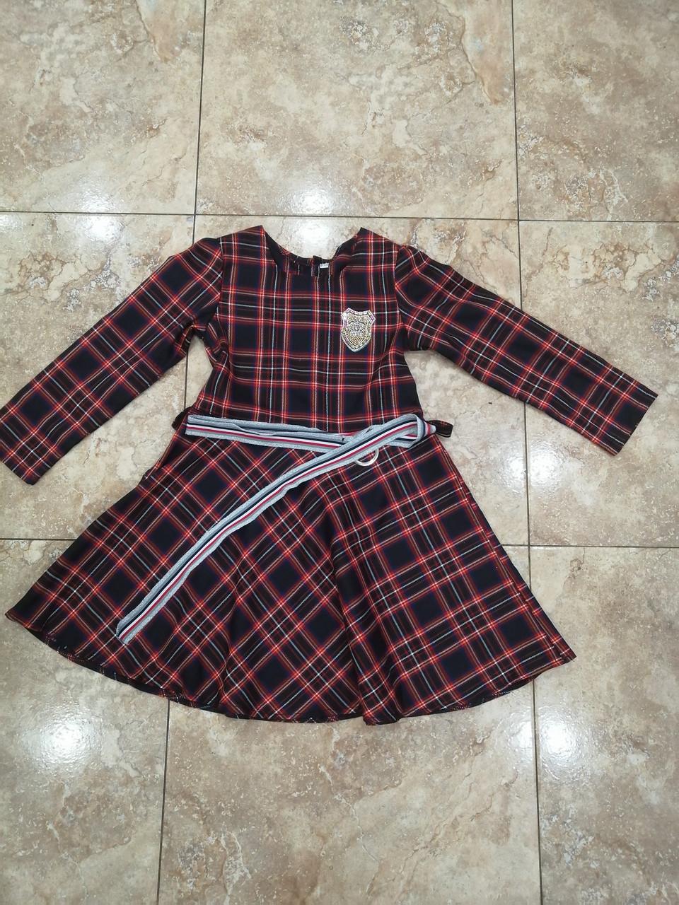 Тёплое платье для девочки подростка