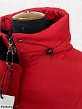 """Жіноча тепла куртка-парка """"Теннессі"""", червона, фото 2"""