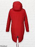 """Жіноча тепла куртка-парка """"Теннессі"""", червона, фото 3"""