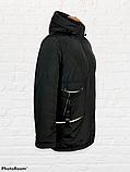 """Жіноча тепла куртка-парка """"Теннессі"""", чорна, фото 2"""