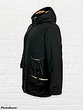 """Жіноча тепла куртка-парка """"Теннессі"""", чорна, фото 5"""