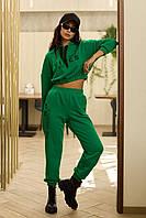 Стильный женский костюм из качественной турецкой трехнитки 42-48 размер разные цвета
