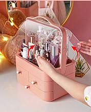Органайзер для косметики Cosmetic Storage Box, бокс для косметичних засобів персиковий