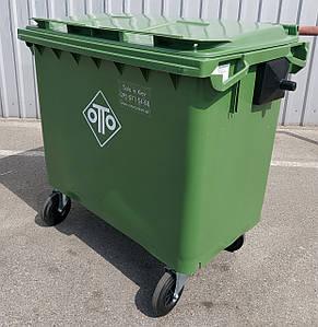 Пластиковый контейнер ESE на 660 л. для мусора