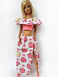 Одяг для ляльок Барбі - топ і спідниця*, фото 6