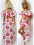 Одяг для ляльок Барбі - топ і спідниця*, фото 7