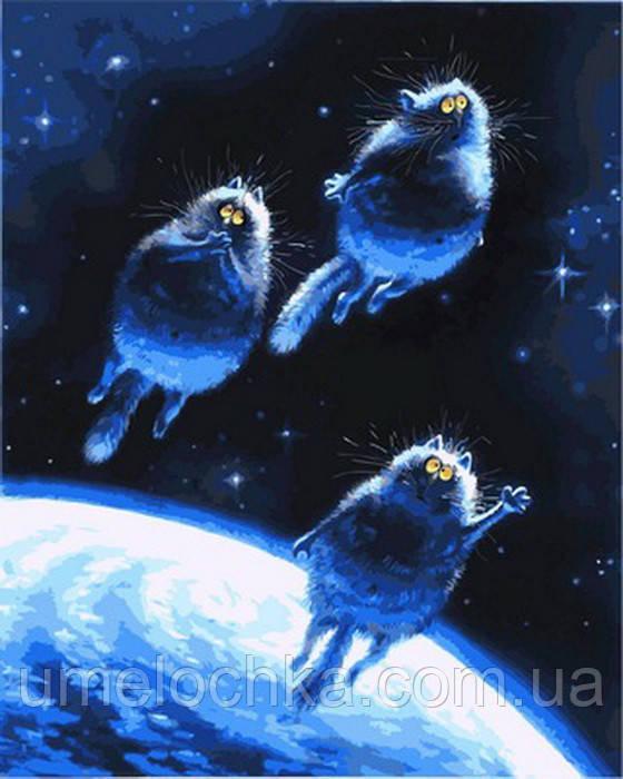 Картина за номерами Сині коти 40 х 50 см (VP878)