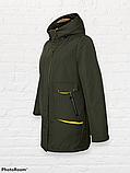"""Жіноча тепла куртка-парка """"Теннессі"""", хакі, фото 4"""